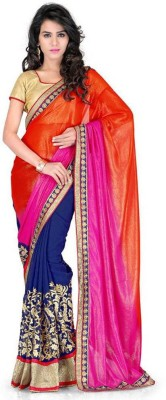Cocojumbo Self Design Fashion Pure Georgette Sari