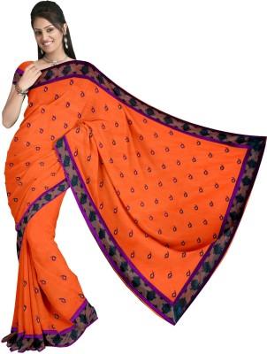 KapoorSarees Self Design Banarasi Cotton Sari