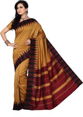Mann Solid Fashion Handloom Art Silk Sari