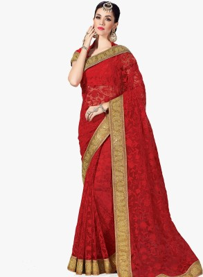 Radhika Creation Embellished Fashion Net Sari