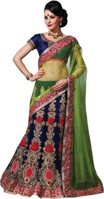 Looks & Likes Embriodered Lehenga Saree Handloom Net Sari