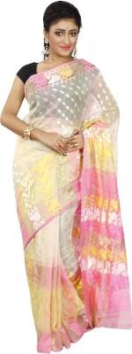 B3Fashion Woven Jamdani Handloom Muslin Sari