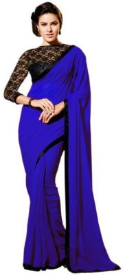 Nena Fashion Solid Bollywood Chiffon Sari