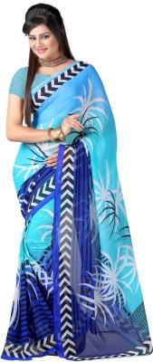 Youth Mantra Printed Fashion Georgette Sari