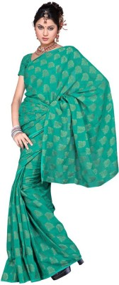 Indiangiftemporium Floral Print Fashion Georgette Sari