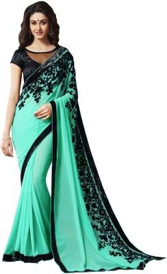 Jhalak Fashion Embriodered Bollywood Georgette Sari