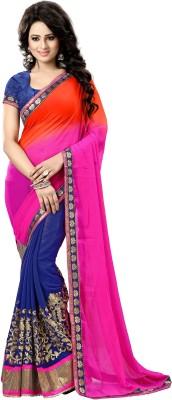 natraj Embriodered Bollywood Cotton Sari