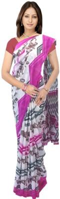 SRK GROUPS Printed Fashion Synthetic Sari