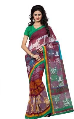 Fabdeal Printed Fashion Chiffon Sari