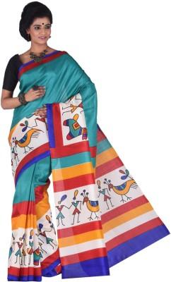 Priyanjali Boutique Printed Bhagalpuri Silk Sari