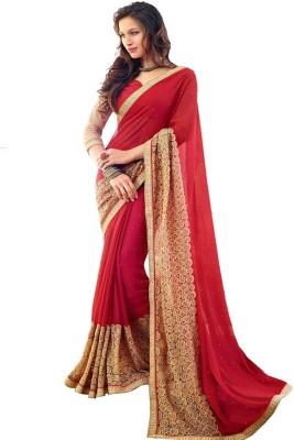 Charu Boutique Floral Print Murshidabad Chiffon Sari