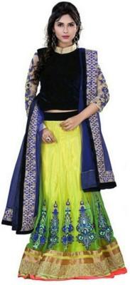 SNV Fashion Solid Women's Lehenga, Choli and Dupatta Set