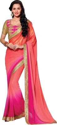 Style Sensus Self Design Bollywood Georgette Sari