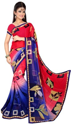 Anu Clothing Self Design Daily Wear Chiffon Sari