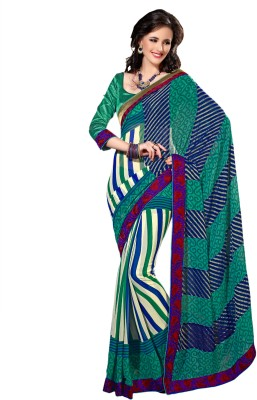Hypnotex Striped Fashion Georgette Sari