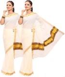 Swadesh Kasavu Self Design Fashion Cotto...