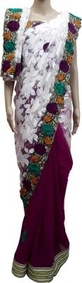 alphonsa Self Design Bollywood Chiffon, Net, Lace Sari
