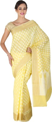 Craftghar Self Design Banarasi Cotton Sari