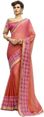 Belletouch Embriodered Fashion Chiffon Sari