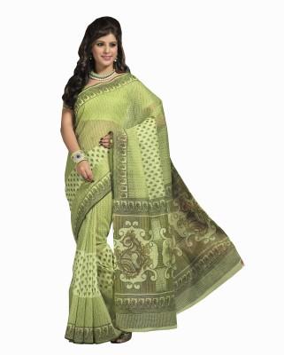 Sarees House Printed Fashion Handloom Cotton Sari