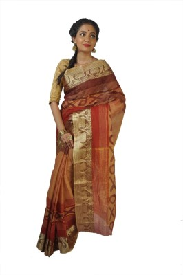 FabIndian Embriodered Jamdani Handloom Cotton Sari