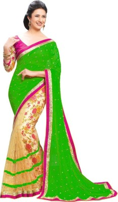 nupur fashion Embriodered Bollywood Georgette Sari