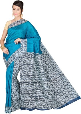 Shree Store Geometric Print Daily Wear Handloom Silk Sari