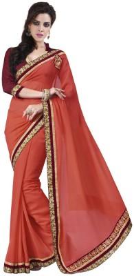 DesiButik Embellished Fashion Georgette, Jacquard Sari