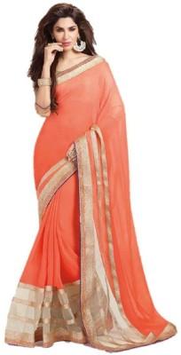Maxusfashion Embriodered Fashion Georgette Sari