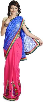 Pavani Embriodered Daily Wear Handloom Georgette Sari