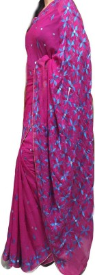 Phulkari The Floral India Embriodered Phulkari Georgette Sari