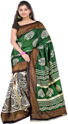 Patankar Fab Printed Bhagalpuri Silk Sari