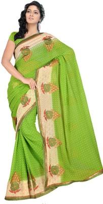 JK Fabrics Self Design Fashion Chiffon Sari