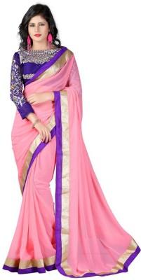 Elevate Women Embriodered Fashion Chiffon Sari