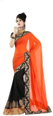 Ridhhi Embriodered Bollywood Georgette Sari