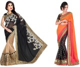 MDS Embroidered Bollywood Chiffon Saree ...