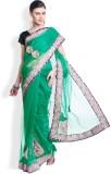 Utsava Plain Bollywood Net Sari