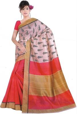 TrulyDesi Printed Bhagalpuri Silk Sari