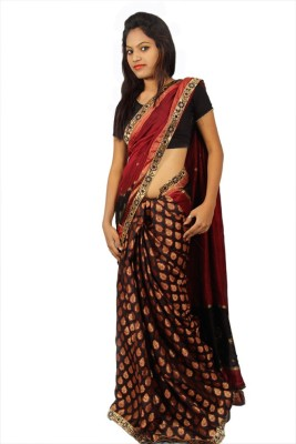 Creativz Hand Self Design Chanderi Chanderi Sari