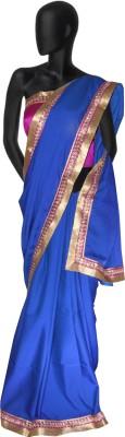 Serwans Plain Daily Wear Synthetic Chiffon Sari
