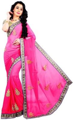 Chhaya Creation Embriodered Fashion Pure Georgette Sari