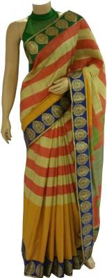 BEAUVILLE VAIIBAVAM Striped Fashion Raw Silk Sari