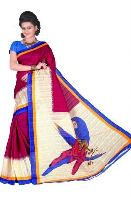 Azara Lifestyle Printed Bhagalpuri Cotton Sari