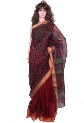 Tanjinas Self Design Phulia Muslin Sari