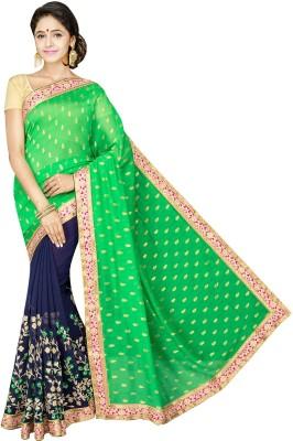 Aditi Fashions Embriodered Fashion Georgette Sari