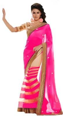 SFC Embriodered Bollywood Handloom Georgette, Net Sari