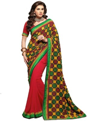 Aaradhya Shop Embriodered Fashion Pure Georgette Sari