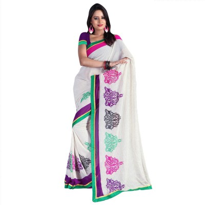 Fashiondodo Printed Daily Wear Georgette Sari