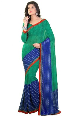 Kunal Embriodered Fashion Synthetic Georgette Sari