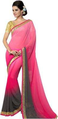 Vonage Plain Bollywood Georgette Sari